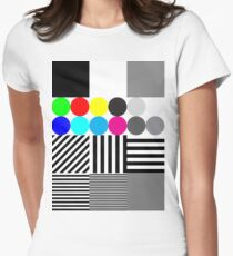 Extreme tone test pattern with colour Women's Fitted T-Shirt