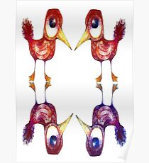 Mythical Birds Poster
