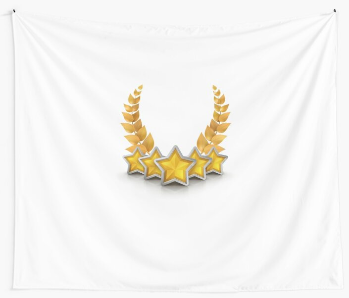 five star emblem for exclusivity and ultimate luxury by sizsus