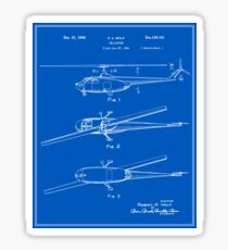 Helicopter Patent - Blueprint Sticker
