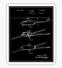 Helicopter Patent - Black Sticker