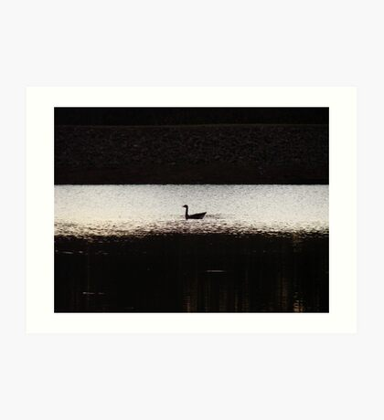 Lone Scout On The Lake Art Print