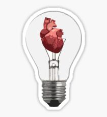 Heart Bulb Sticker