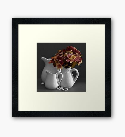 Flowers of Many Colors Framed Print