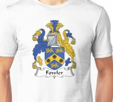 Fowler Coat of Arms / Fowler Family Crest Unisex T-Shirt