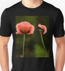 Couple Pink Oriental Poppies  T-Shirt