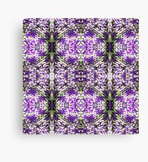Purple Knitted Circles Canvas Print
