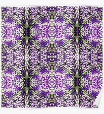 Purple Knitted Circles Poster