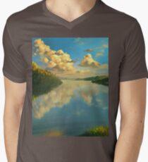 Volga Landscape Men's V-Neck T-Shirt