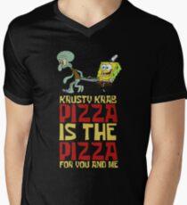 Krusty Krab Pizza - Spongebob Men's V-Neck T-Shirt