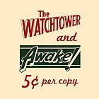 Watchtower Awake Canvas Messenger Bag Vintage by JW Arts & Crafts