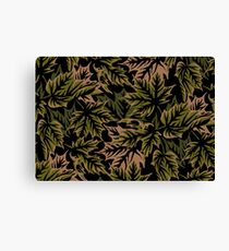 Leaves - Dull Green Canvas Print