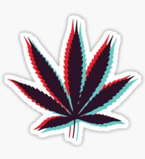 Marijuana Leaf 4 Sticker