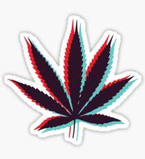 Pegatina Hoja de marihuana 4