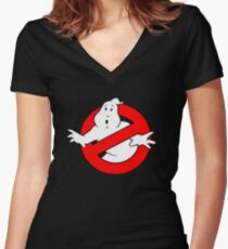 Ghost Busters Women's Fitted V-Neck T-Shirt
