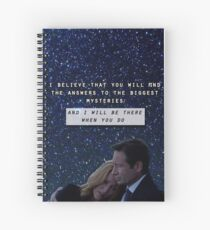 Revival Mulder & Scully Spiral Notebook