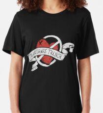 Marianas Trench Herz Logo Slim Fit T-Shirt