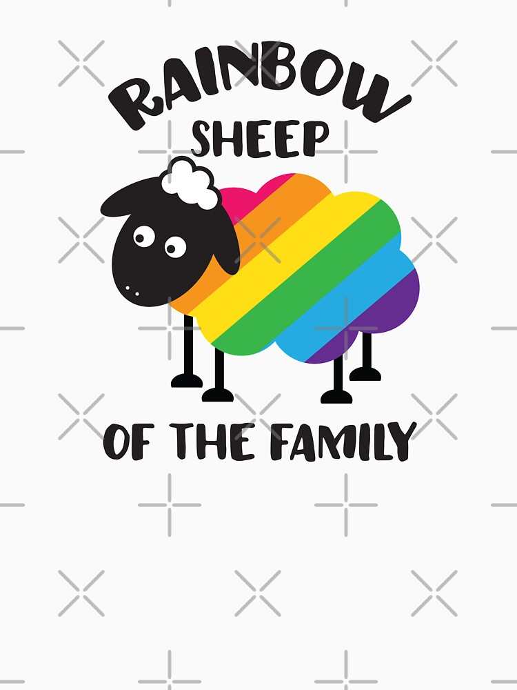 Rainbow Sheep Of The Family LGBT Pride by gyenayme