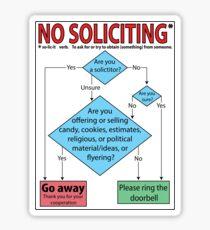 No Soliciting (flowchart) Sticker