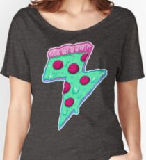 Thunder Neon Pizza Women's Relaxed Fit T-Shirt