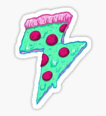 Thunder Neon Pizza Sticker
