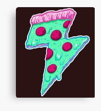 Thunder Neon Pizza Canvas Print