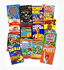 80s Totally Radical Breakfast Cereal Spectacular!!! Photographic Print