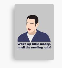 Wake up little snoozy, smell the smelling salts! Canvas Print