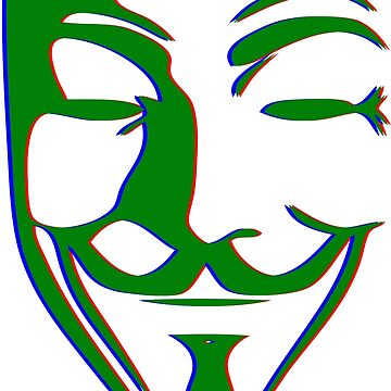Single Fawkes PopArt Mask von Exilant
