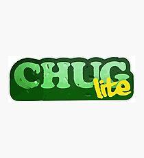 Chug Lite Photographic Print