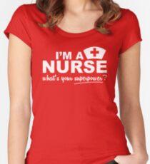 Nurse Superpower Women's Fitted Scoop T-Shirt