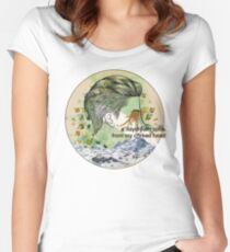 behind the sea Women's Fitted Scoop T-Shirt
