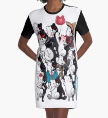 Monokuma portrait of wisdom Graphic T-Shirt Dress