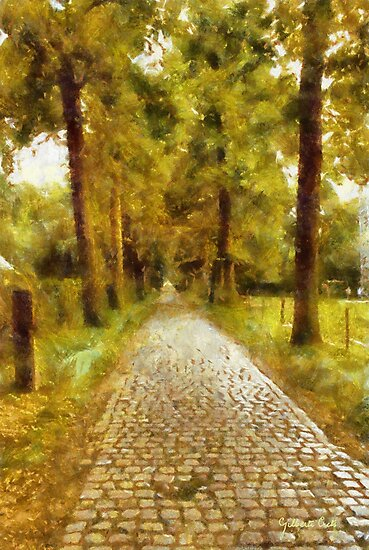 A Lane to Castle Hof ter Linden - Edegem - Belgium by Gilberte