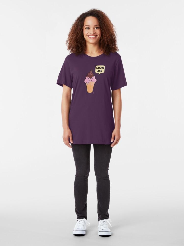 Alternate view of Mr. Icecream Man (v2) Slim Fit T-Shirt