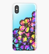 Beautiful Bright Neon Tie Dye Painted Flowers iPhone Case/Skin