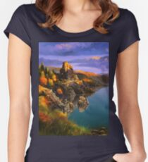 Baycal Lake Landscape Women's Fitted Scoop T-Shirt