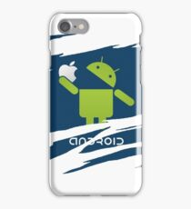 ANDROID EATS APPLE ! iPhone Case/Skin