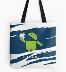 ANDROID EATS APPLE ! Tote Bag