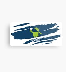 ANDROID EATS APPLE ! Metal Print