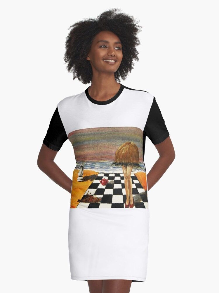 hair and legs Graphic T-Shirt Dress Front