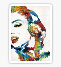 Marilyn Monroe Painting - Bombshell - By Sharon Cummings Sticker