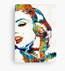 Marilyn Monroe Painting - Bombshell - By Sharon Cummings Canvas Print