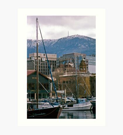 Victoria Dock, Hobart—Kodachrome 64 Art Print