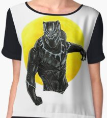 Black panther  Women's Chiffon Top