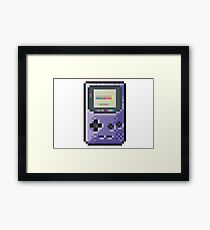 cool gameboy 8bit art Framed Print