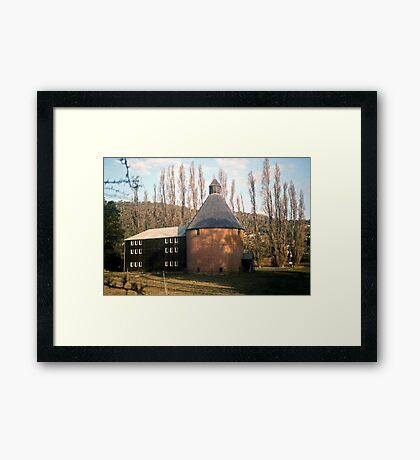 Oast House, New Norfolk, Tasmania—KODACHROME 64 Framed Print