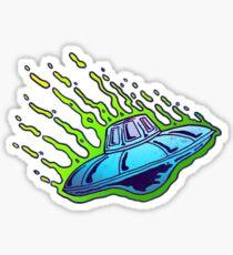 UFO INVASION Sticker