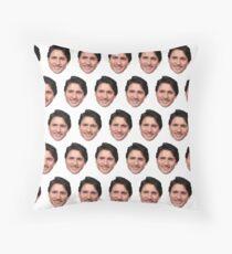 Justin Trudeau face  Throw Pillow