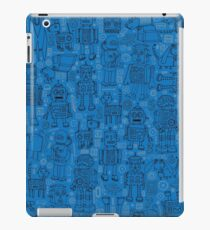 Robot pattern - Blue iPad Case/Skin